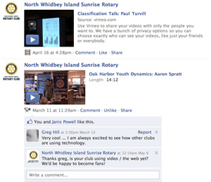 Facebook allows for quick, personal interaction between people from other clubs and non-members.